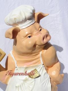 Schwein als Butler Dekofigur Werbefigur - Vorschau 5