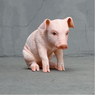 Schwein sitzend als Dekorations Figur Deko
