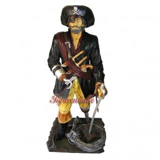 Pirat Seeräuber Dekofigur Maritime Deko lebensgroß