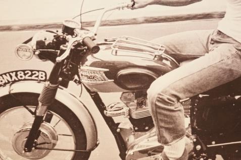 Wandbild Steve McQueen Motorrad BMW Triumph Alu Dibond - Vorschau 3