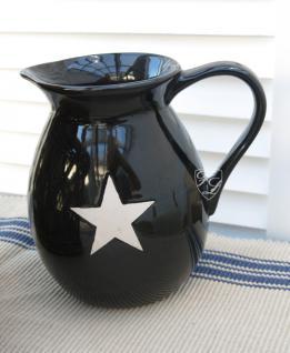 Kanne Milchkanne Geschirr Landhausstil Stern Stars Tee gemütlich