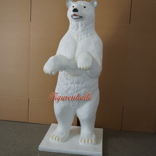 Riesen Eisbär Dekofigur Tazen vorne Werbefigur für Werbetafel Schild