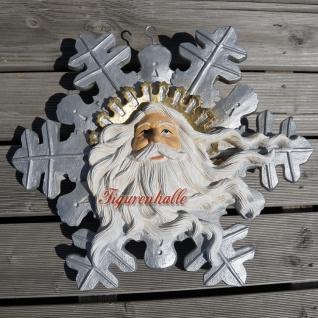 Nikolaus Weihnachtsmann Schneeflocke Winter Deko Figur Statue Stern