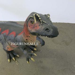 Velociraptor Dinosaurier Figur Statue Deko Skulptur Uhrzeit Tiere 111cm - Vorschau 2