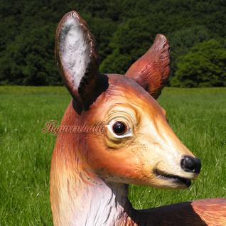 Reh Dekofigur Rot-Wild Statue Figur Rehbock - Vorschau 4