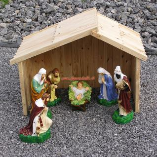 Weihnachtskripper Figuren groß Haus Außendeko Weihnachten