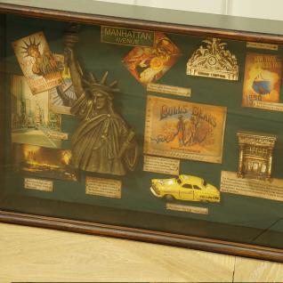 New York Vitrine Schaukasten Nostalgie Antik Dekoration Deko - Vorschau 2