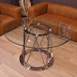 Esszimmertisch Esstisch Metall Glasplatte Glastisch Home Interiors
