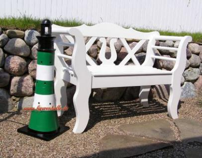 Leuchtturm gr n wei dekoration maritime deko garten kaufen bei helga freier - Maritimer garten ...