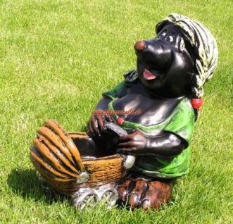 Maulwurf Frau mit Kinderwagen Figur Gartenfigur