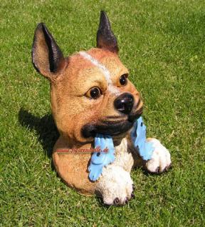 Buddelnder Hund Halberhund Grabender Hund Figur - Vorschau 1