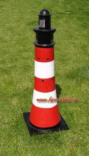 Leuchtturm Gartenfigur Roter Sand Optik Garten Dekoration - Vorschau 2