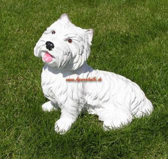 West Highland Terrier als Dekofigur Gartenfigur