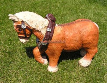 Kaltblüter Pferd Figur Tierfigur Statue Skulptur - Vorschau 2
