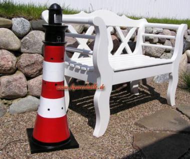Leuchtturm Gartenfigur Roter Sand Optik Garten Dekoration - Vorschau 3