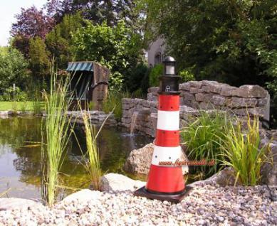 Leuchtturm Gartenfigur Roter Sand Optik Garten Dekoration - Vorschau 4