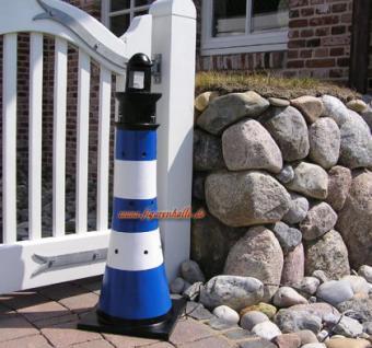 Leuchtturm Gartenfigur Roter Sand Optik Garten Dekoration - Vorschau 5