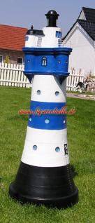 Leuchtturm Roter Sand in blau weiß Garten Maritim Deko Dekoration - Vorschau 2