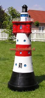 Leuchtturm Roter Sand in blau weiß Garten Maritim Deko Dekoration - Vorschau 5