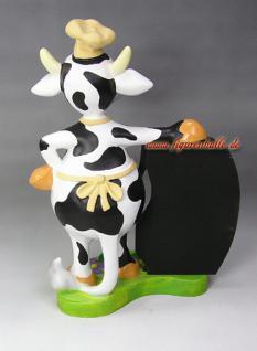 Kuh mit Tafel Figur Werbeschild Dekoration und Deko - Vorschau 2