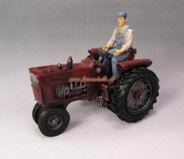 Traktor Schlepper Historisches Modell als Statue und Fan Dekoration