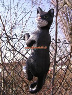 Katze Dekofigur Hängend Gartenfigur