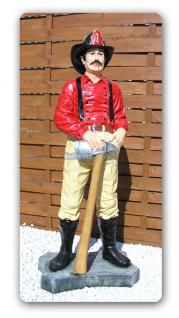 US Feuerwehrmann Dekofigur Werbefigur Feuerwehr