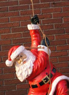 Weihnachtsmann Dekofigur hängend Kletternd Figur Lebensgroß