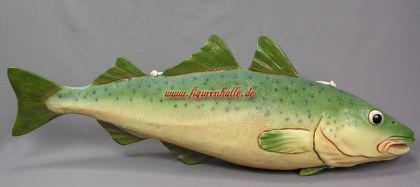 Dorsch Kabeljau Fisch Figur Dekoration Werbefigur Restaurant