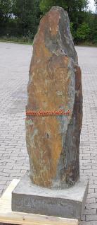 Schiefer Stein Stehle Naturstein Garten Deko Dekoration - Vorschau 1