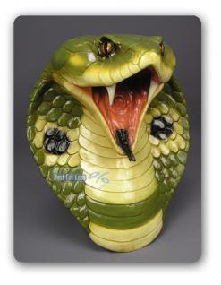 Cobra Schlange Schlangen Kopf Dekofigur Figur - Vorschau 3
