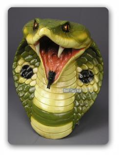 Cobra Schlange Schlangen Kopf Dekofigur Figur