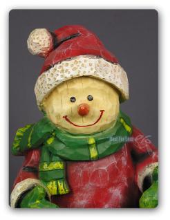 Weihnachtsmann Schneemann Figur Statue Skulptur