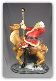 Weihnachtsmann asu Hirsch Figur Statue Skulptur