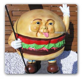 Hamburger Werbefigur Figur Werbeaufsteller Imbiss