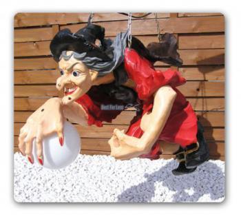 Hexen Lampe Figur Dekoration Deko Halloween - Vorschau 2