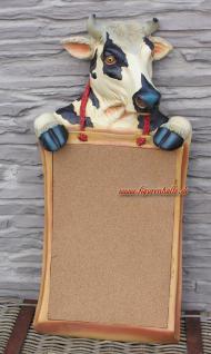 Kuh Pinnwand als Figur zur Deko und Dekoration Kneipe Bar Lockal