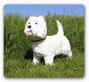 West Highland Terrier Dekofigur Gartenfigur Figur