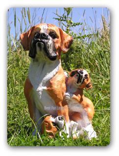 Boxer Dekofigur Figur Hunde Dekortion Tierfigur