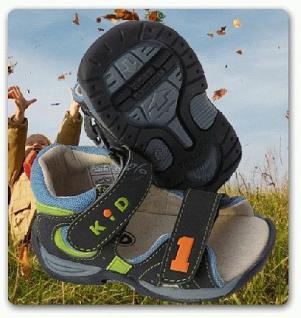 Kinder Jungen Sandalen Sandale blau mit No. 1 - Vorschau 1