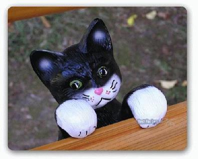 Katze Dekofigur Hängend Gartenfigur Figur Deko