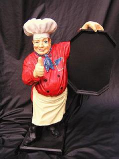 Koch Werbefigur Figur Werbeaufsteller Tafel
