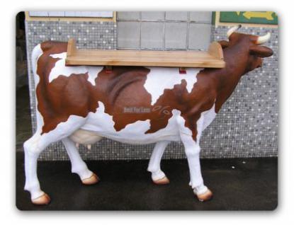 Kuh Lebensgröße Dekofigur als Tisch Stehtisch - Vorschau 2