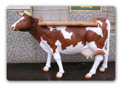Kuh Lebensgröße Dekofigur als Tisch Stehtisch - Vorschau 1