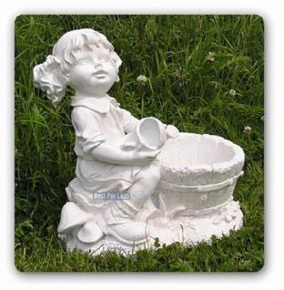Mädchen mit Zöpfen als Dekofigur Gartenfigur