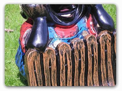 Maulwurf am Gartenzaun Gartenfigur Dekofigur - Vorschau 3