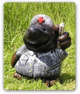 Maulwurf als Artzt Figur Dekofigur Gartenfigur - Vorschau 2