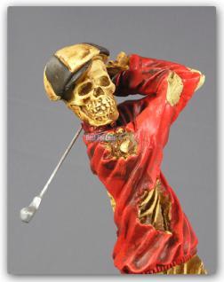 Golf Skelett Horrorfigur Figur Statue Deko Tot - Vorschau 2