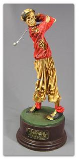 Golf Skelett Horrorfigur Figur Statue Deko Tot