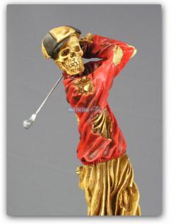 Golf Skelett Horrorfigur Figur Statue Deko Tot - Vorschau 3
